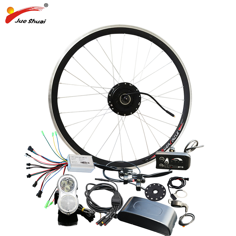 jueshuai Electric Bike Bicycle Conversion Kit for 20 26 700C Front Wheel Hub Motor 36V 250w Ebike kit bicicleta electrica e bike 24v 500w motor with disc brakes hub electric bicycle ebike conversion kit front or rear wheel new details about