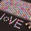 Декоративные игрушки наклейка 6 мм Diy Наклейка Мобильный/PC Искусство перл/Кристалл Алмаза Горный Хрусталь Самоклеющиеся Наклейки Скрапбукинга