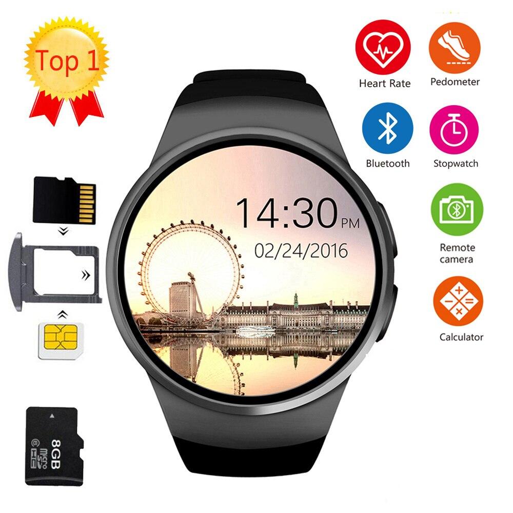 KW18 montre intelligente connectée montre-bracelet pour Xiaomi Android soutien synchronisation appel Messager kw18 Smartwach téléphone montre montres