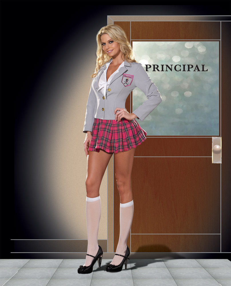 Women Adult 3 Pcs Sexy School Girl Costume Cosplay,For Halloween Role Play Costumes -4006