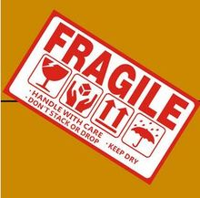 2000pcs FRAGILE stickers goods stacked up gently do not pressure drop international express logistics labels 9x5cm
