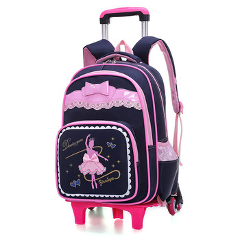 2018 Removable Trolley Backpack Kids Wheels Children school bags Girls Kids travel luggage book bag Schoolbag Mochilas Escolares kids wheels removable trolley school backpack children school bags girls kids travel bag princess schoolbag mochilas escolares