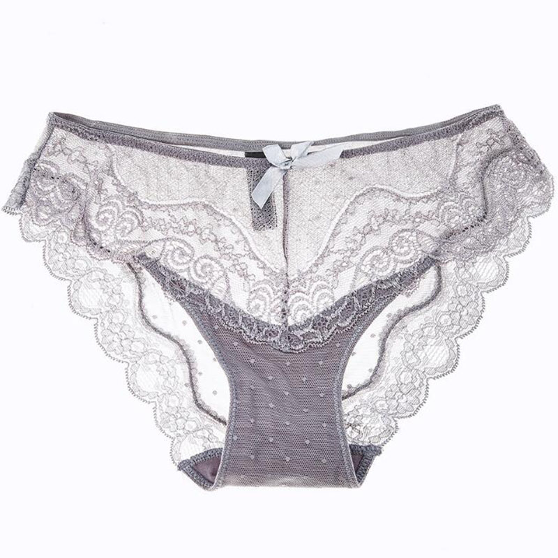 Women's panty briefs sexy temptation lace transparent plus size Women's gilrs Panties Low-waist 234