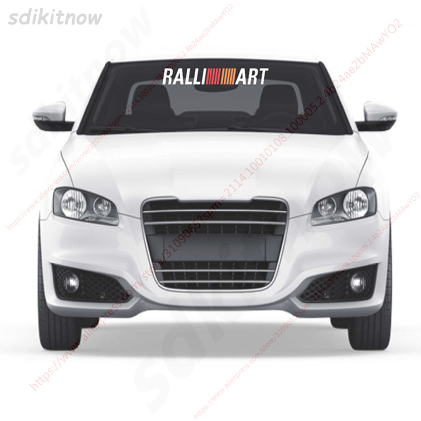 80x10cm Car Front Rear Windshield Ralliart Sticker Decal Styling For mitsubishi lancer asx outlander pajero galant accessories yuzhe 2 front seats auto automobiles car seat cover for mitsubishi lancer outlander pajero eclipse asx car accessories styling