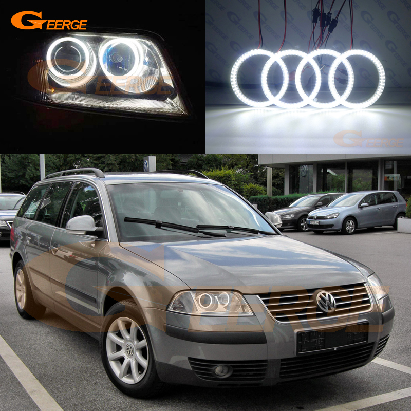 For Volkswagen VW Passat B5.5 3BG 2001 2002 2003 2004 2005 Excellent Ultra bright illumination smd led Angel Eyes kit DRL free shipping vland factory for is200 is300 led headlights 2001 2202 2003 2004 2005 angel eyes plug and play