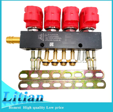 Silent high speed 4 cylinder injector rail adapter for CNG LPG gas fuel car conversion kits