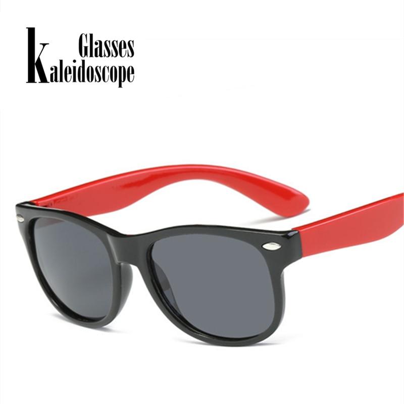 Kaleidoscope Glasses UV400 Girls Baby Silicone Boys Children Kids Polarized Safety