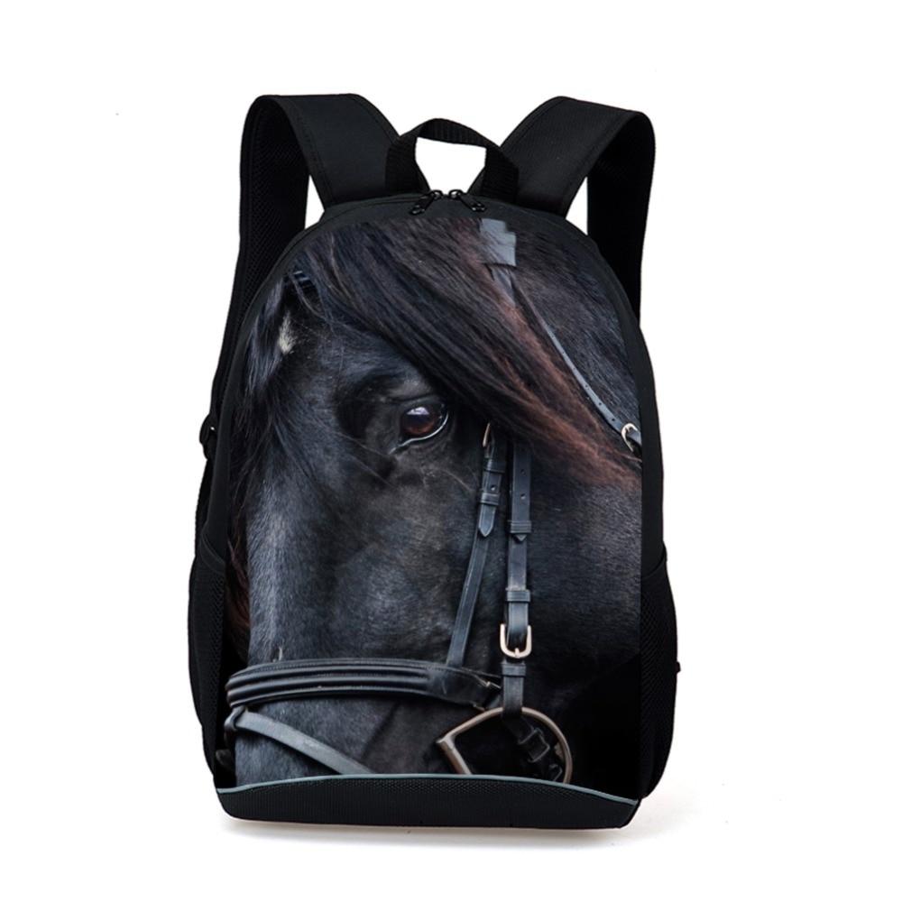 97e5b8342ae Supreme Women Men Casual Laptop Backpack Animal Horse Printing Shoulder  Backpack Girls Boys Kids School Bags Mochila Feminina-in Backpacks from  Luggage ...
