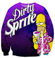 new Dirty Sprite 3D sweatshirt cartoon character crewneck sweatsuits harajuku fitness hoodie casual 3D outfit clothes