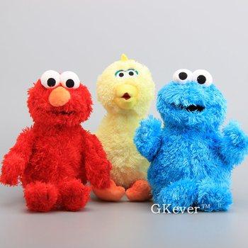 3 Estilos para Escolher de alta Qualidade Sesame Street Elmo Cookie Monster Grande Pássaro De Pelúcia Boneca Brinquedos de Pelúcia Macia Animais 30 -33 cm