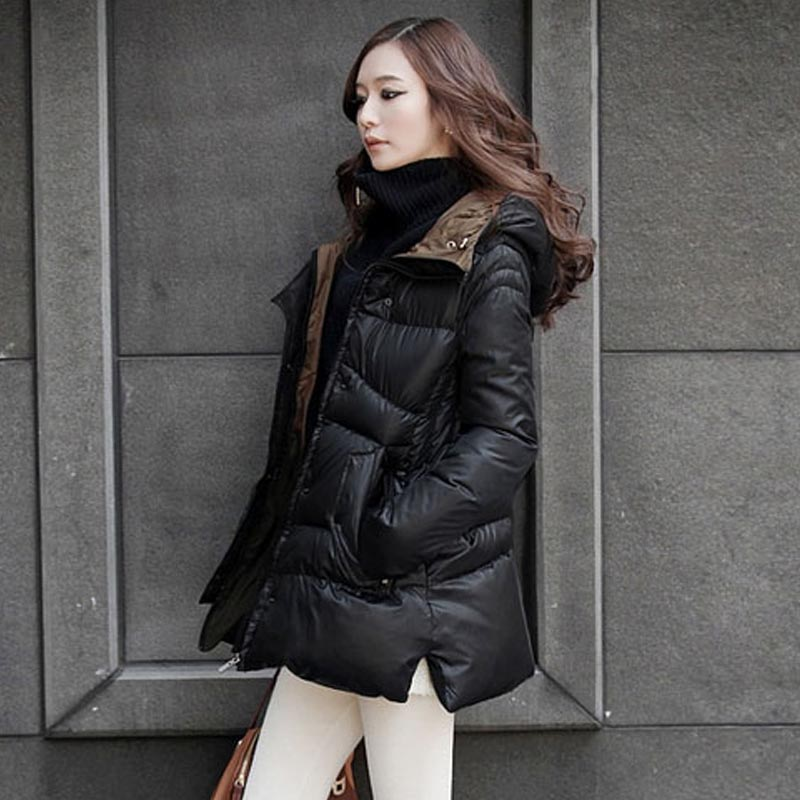 ФОТО New Pop Nice Winter Jacket Women Thickening Winter Outerwear Plus Size Down Coat Long Loose Design Cotton-padded Jacket CP1181