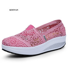 Koovan, zapatos de malla para mujer, primavera y verano 2020, zapatos netos transpirables geniales para mujer, zapatillas informales con cordones para mujer