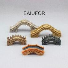 BAIUFOR Stone Bridge Figurines Mini Resin Crafts Fairy Garden Miniatures DIY Terrarium/ Succulents/ Micro Landscape Decoration