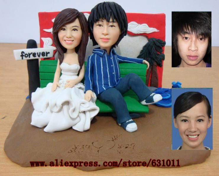 Free Shipping DIY Wedding Gift Hand Made Artwork Creative Couples Dolls Birthday On Aliexpress