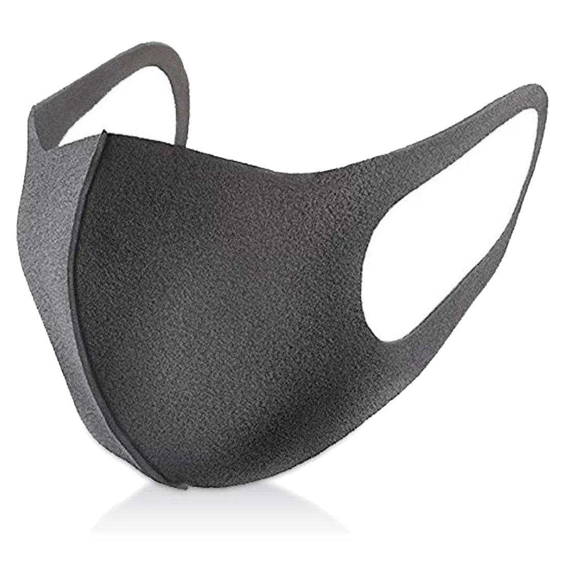Simple Black Mouth Mask Cotton Men Women Anti Dust Protective Double Washable Many Times