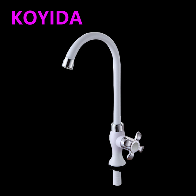 KOYIDA Waterfall Kitchen Faucet Plating Single Cold Water Tap 360 Rotatable  Kitchen Sink Faucets Basin Mixer