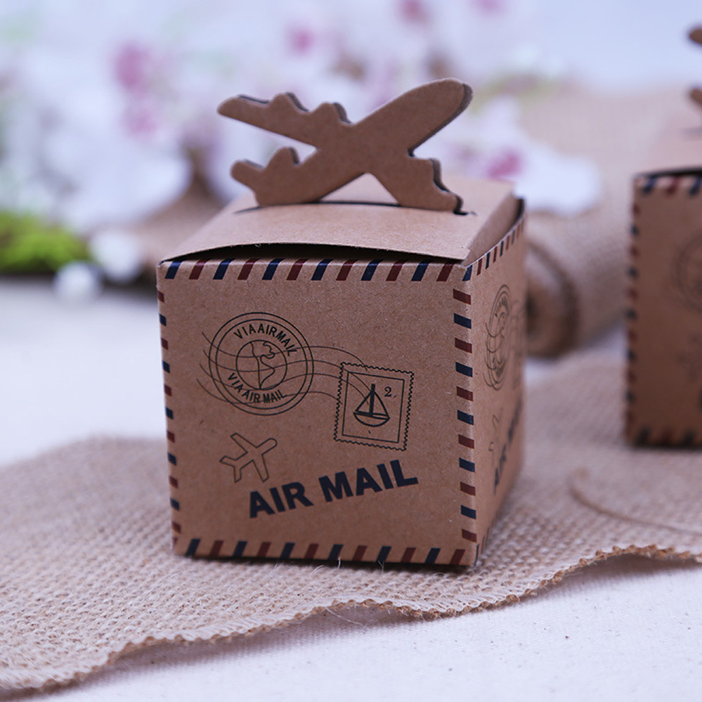 20pcs rustic wedding decor air mail mail kraft paper. Black Bedroom Furniture Sets. Home Design Ideas