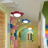 Children's room flowers LED ceiling light red and yellow blue lovely garden kindergarten channel chandelier ZL204
