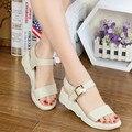 2016 лето Европейский стиль женской обуви плоский каблук мягкие кожаные 3 цвета Высокого Качества Толщиной Подошве сандалии Женщин HSD05