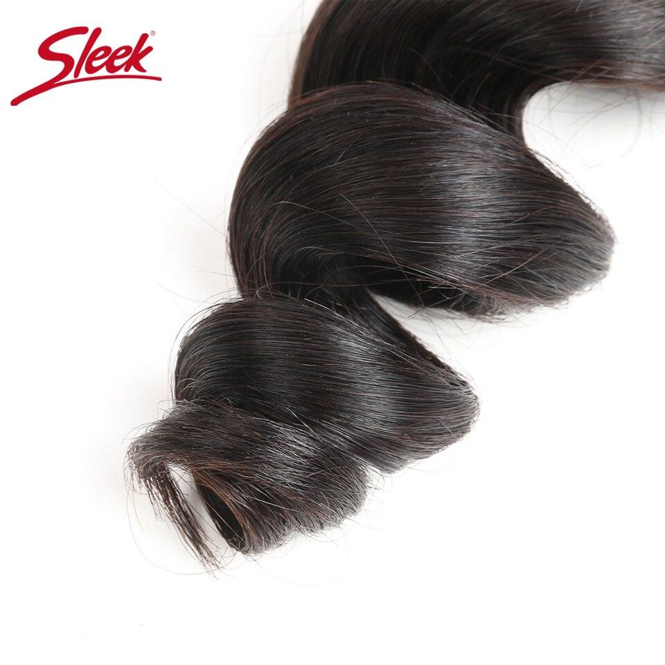 Image 4 - Sleek Brazilian Loose Wave Bundles 100% Human Hair Bundles 1 PC 10 28inch Non Remy Hair Weave Extension Can Buy 3 Or 4 BundlesHair Weaves   -