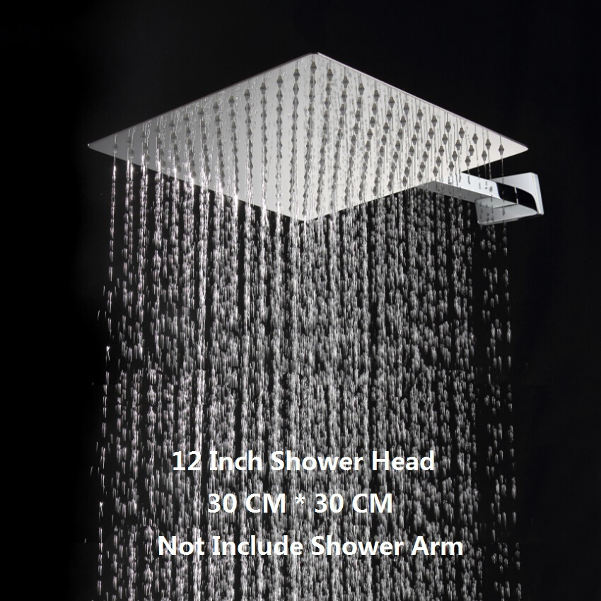 Superieur 12 Inch Square Rain Shower Head.Stainless Steel Ultra Thin Water Saver Rainfall  Showerhead.Ducha.Chuveior In Shower Heads From Home Improvement On ...