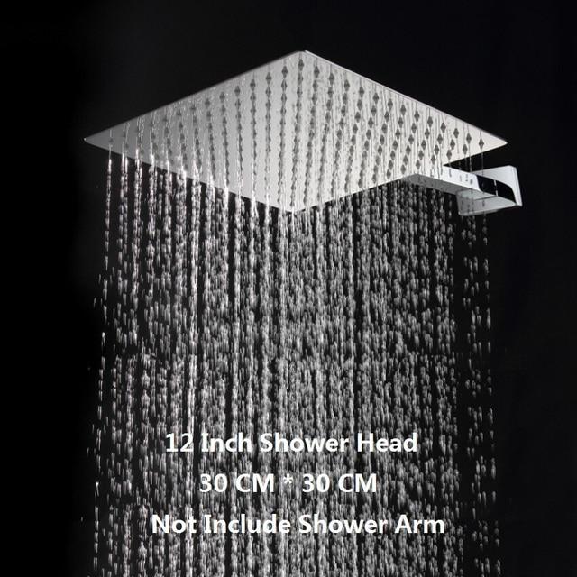 Attrayant 12 Inch Square Rain Shower Head.Stainless Steel Ultra Thin Water Saver  Rainfall Showerhead