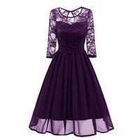 elegant chiffon evening gown Pretty evening Dress Gorgeous Round Neck Lace formal dress Sexy Party Dresses abiye gece elbisesi
