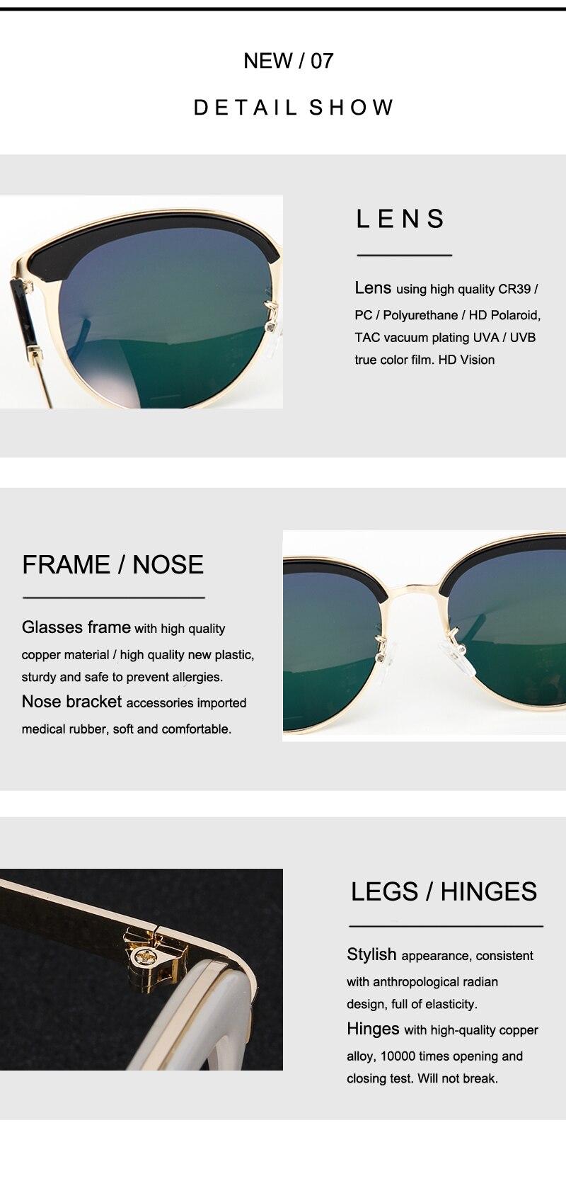 7dc176f9bf6fb Feishini diseñador polarizadas metal Gafas de sol mujer ojo de gato vintage  nuevo oculos sunglass Polaroid HD Vision personalidad de la moda