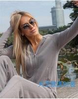 Модный брендовый зимний шерстяной и кашемировый вязаный теплый костюм свитер с капюшоном + норковые кашемировые брюки для отдыха из двух пр