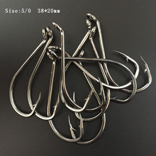 100pcs/lot 5/0 High Quanlity Stainless Steel Octopus Fishing Hook Mustad Squid Fishing Hook цена в Москве и Питере