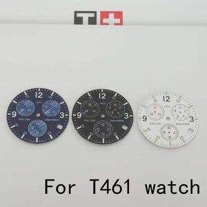 31mm zegarek pokrętło etui na rękę dla T461 męski zegarek kwarcowy PRC200 literalny zegarek akcesoria do części naprawczych T17 watchband