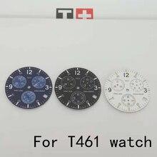 31mm İzle dial eller için T461 erkek PRC200 quartz saat edebi watch için aksesuarlar T17 onarım parçaları kordonlu saat