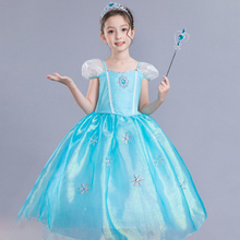 Cute Theme Princess Dress Fashion Kids Clothes Summer and Spring Baby Girl Party Halloween Costume