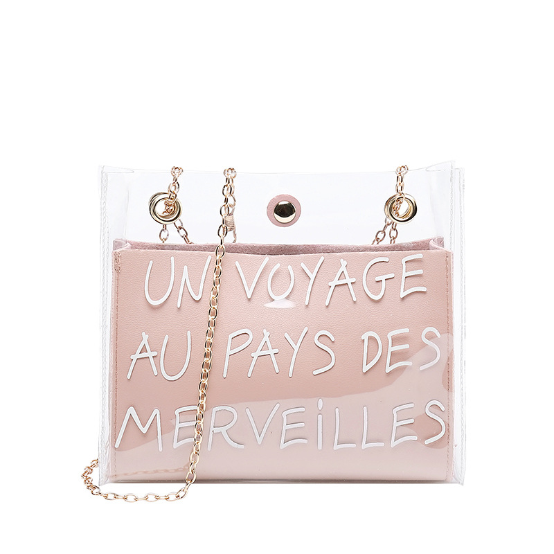 Miyahouse Fashion Jelly Shoulder Bag For Lady Summer Women Mini Travel Bag PVC Transparent Female Messenger Bag With Chain