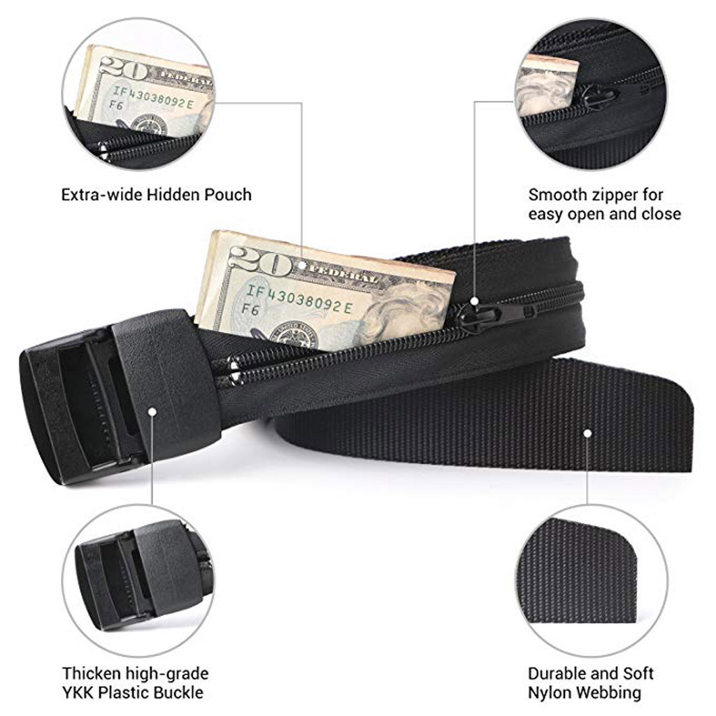 Safety-Belt Hidden-Money-Bag Cash-Safe Travel Durable Anti-Theft All-Everyday-Wear Men's