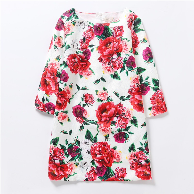 2019 New Household Matching Outfits Spring Summer time Autumn Model Household Matching Garments Mom And Daughter Floral Printed Attire