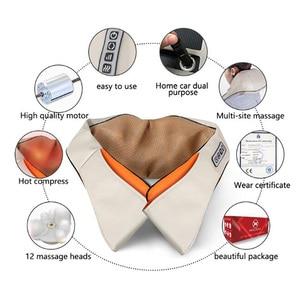 Image 4 - U Shape Electrical Shiatsu Back Neck Shoulder Body Massager Car&Home Use Infrared Stress Relieve Massage Belt Massage Tool
