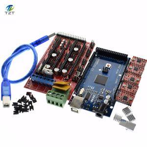 Image 1 - Mega 2560 R3 para Arduino + 1 Uds., controlador 1,4 + 5 uds. Módulo controlador A4988 paso a paso, kit de impresora 3D Reprap MendelPrusa