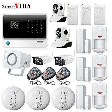 SmartYIBA APP Control WIFI GSM Home Security font b Alarm b font System Fire Smoke Detector