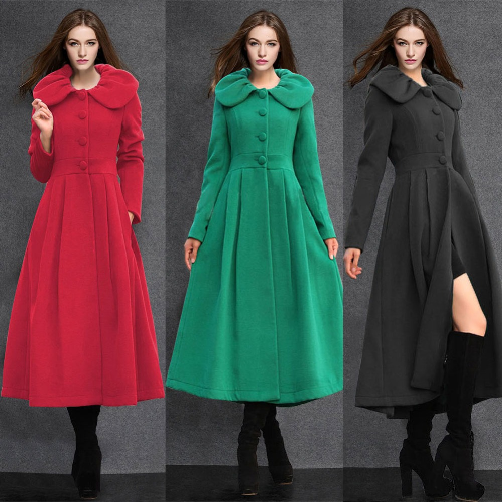 Ladies Black Dress Coat - Sm Coats