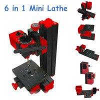 Высокое качество DIY токарный мини станок машина 6 в 1, мини микро токарный станок 6 в 1 для дерева и мягкого металла