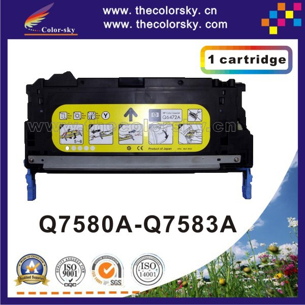 (CS-H7580-7583) print top premium toner cartridge for HP Q7580A Q7581A Q7582A Q7583A Q7580 - Q7583 7580 - 7583 6k/4k free dhl стоимость