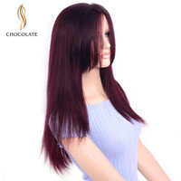 CHOCOLATE Full Lace Wigs Human Hair With Baby Hair 200% Density Brazilian Glueless Pre Plucked Full Lace Human Hair Wigs 99J