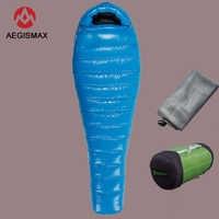 G1/G2/G3 Aegismax Professional Ultralight outdoor white goose Down winter mummy type sleeping bag