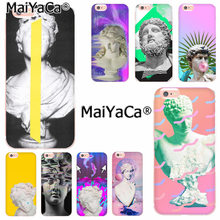 MaiYaCa Witte steen sculptuur David Hoge Kwaliteit telefoon cover voor iphone 11 pro 8 7 66S Plus X 5S SE XR XS XS MAX(China)
