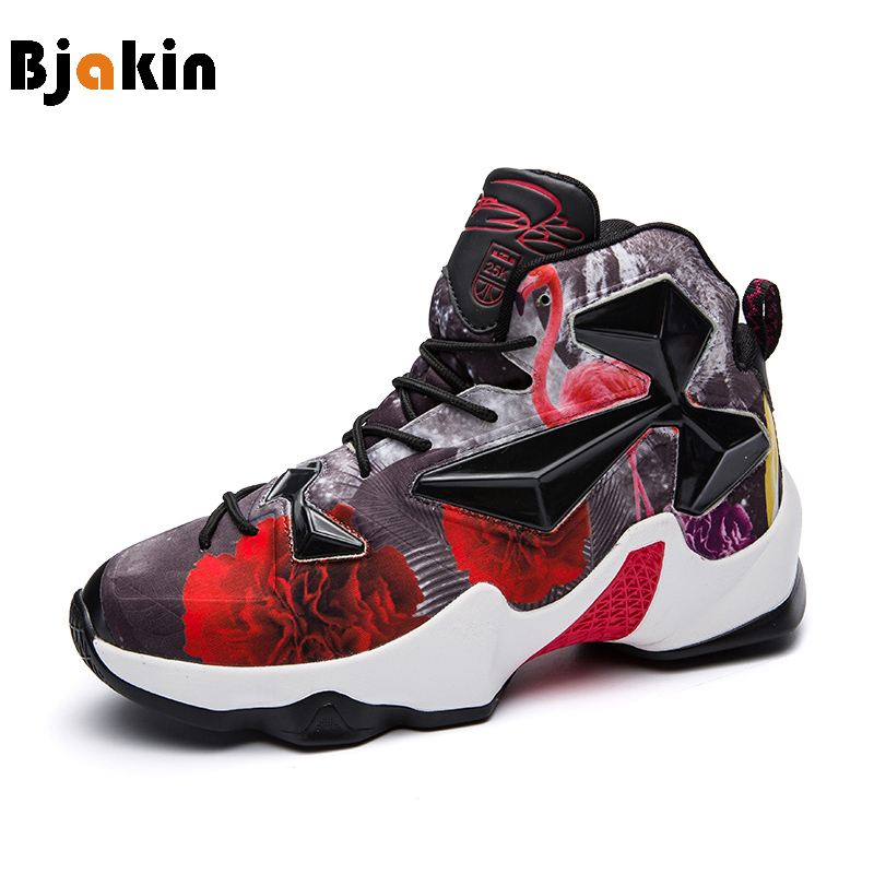 Bjakin High Outdoor Basketball Shoes Men Cool Sneakers Colorful Boy Training Sport Shoes zapatos baloncesto 2018 New Big Size 45