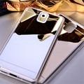 Mouplayca Покрытие Зеркало Мягкая Вернуться ТПУ Case Чехол Для Samsung Galaxy Note3/4/5 J5 J7 премьер-S3 S4 S5 S6 S7 Край Плюс Телефон Case