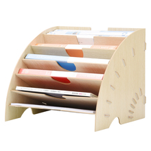 DIY Magazine Organizer Multilayer Desk Organizers Book Holder Wood Storage Organizer Stand Shelf Rack Joy Corner