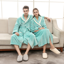 Bath Robe Winter Warm Bathrobes Women Men Flannel Dressing Plus Size Soft Gown Bridesmaid bathrobe Robes Female
