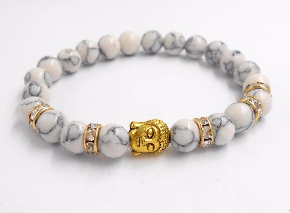 Hot Buddha head beads energy volcano stone bracelet beads Jewelry For Men Women